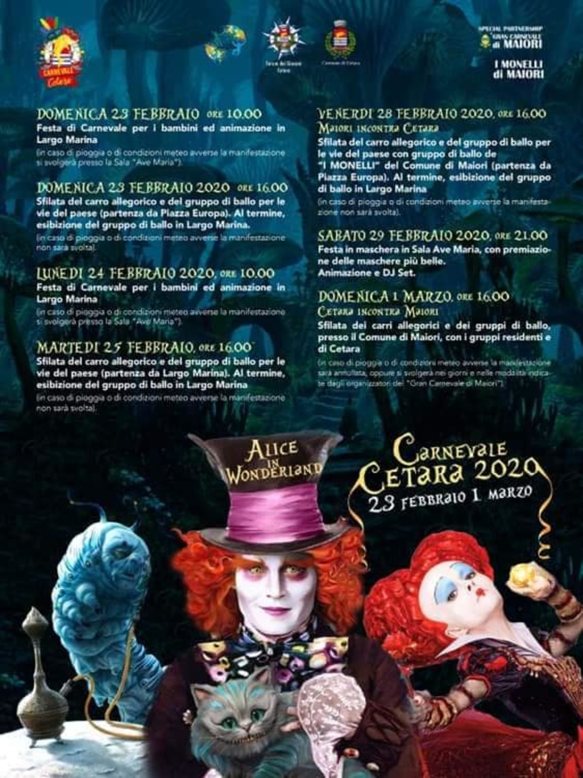 Carnevale Cetara: Alice in Wonderland